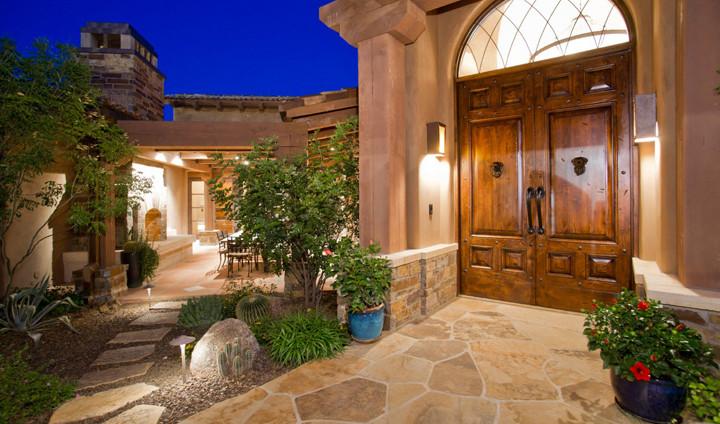 Front Door and Outdoor Dining