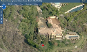 Sylvestor Stallone's home in Beverly Hills, California