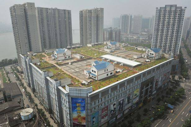 Shopping Mall Residences in China