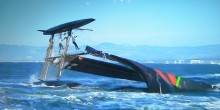 Oracle Spithill capsized.