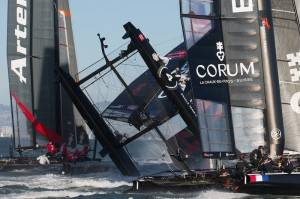 Oracle-Team-Spithill-capsized-at-Fleet-Race-one-at-semi-final1