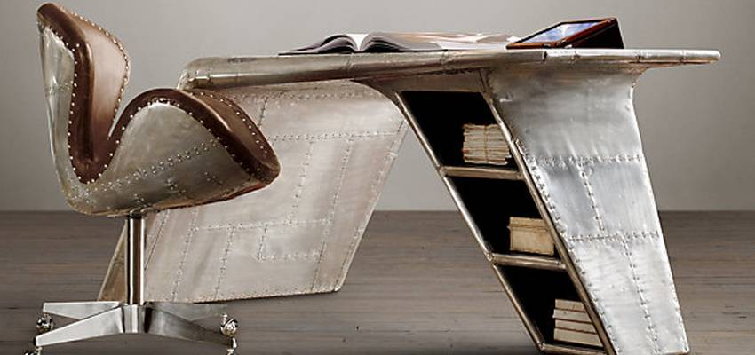 Merveilleux Restoration Hardware Have Unveiled A New Aviator Wing Desk, A Stunning  Piece Which Feels Both Contemporary And A Rustic. Inspired By World War II  Fighter ...