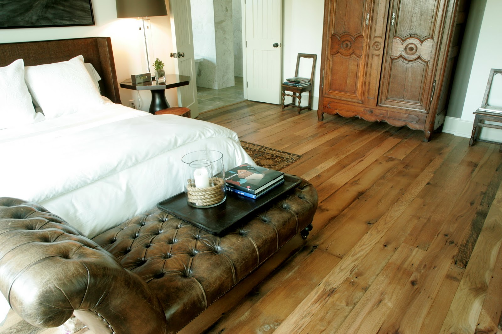 Haute design trend reclaimed wood floors for Recycled hardwood floors