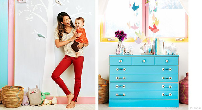 Celebrity style we love jessica alba for Elle decor nursery