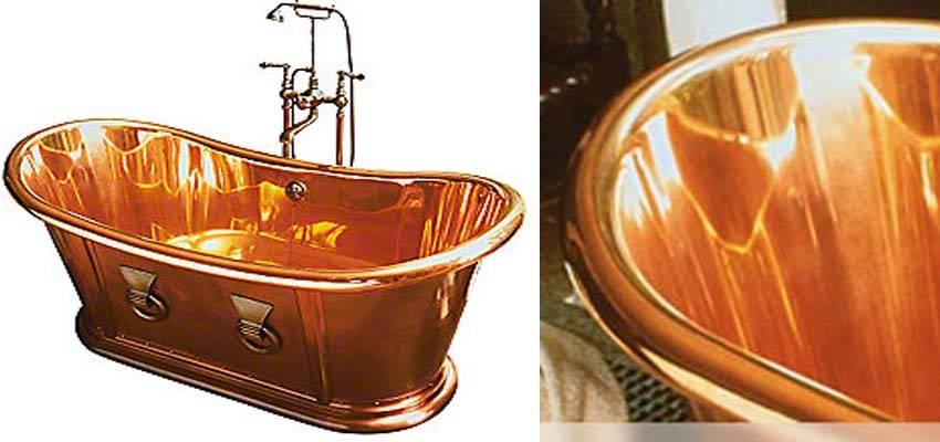 bathtub with designs bold rilane copper bathroom elegant
