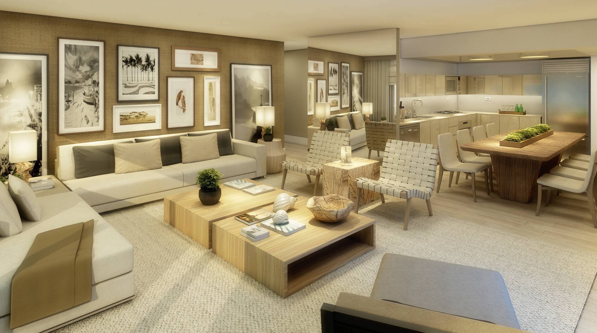 1 Hotel & Homes South Beach Residential Living Room