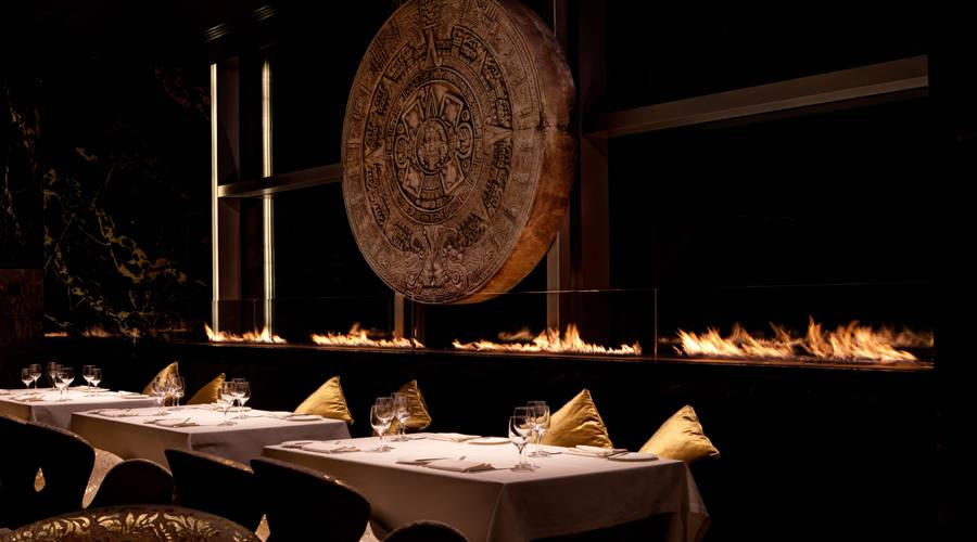 Planika Fireplaces Part - 17: Planika, A Creator Of Modern Décor And Smoke-free Fireplaces, Helped To  Shape The Beautiful Layout Of The Izel Restaurant At The Conrad Hotel, ...