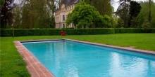 Catherine Deneuve Chateau Pool