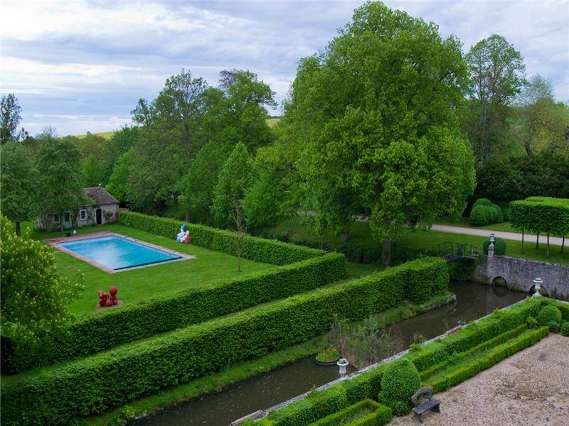 Catherine Deneuve Chateau Pool and Estate
