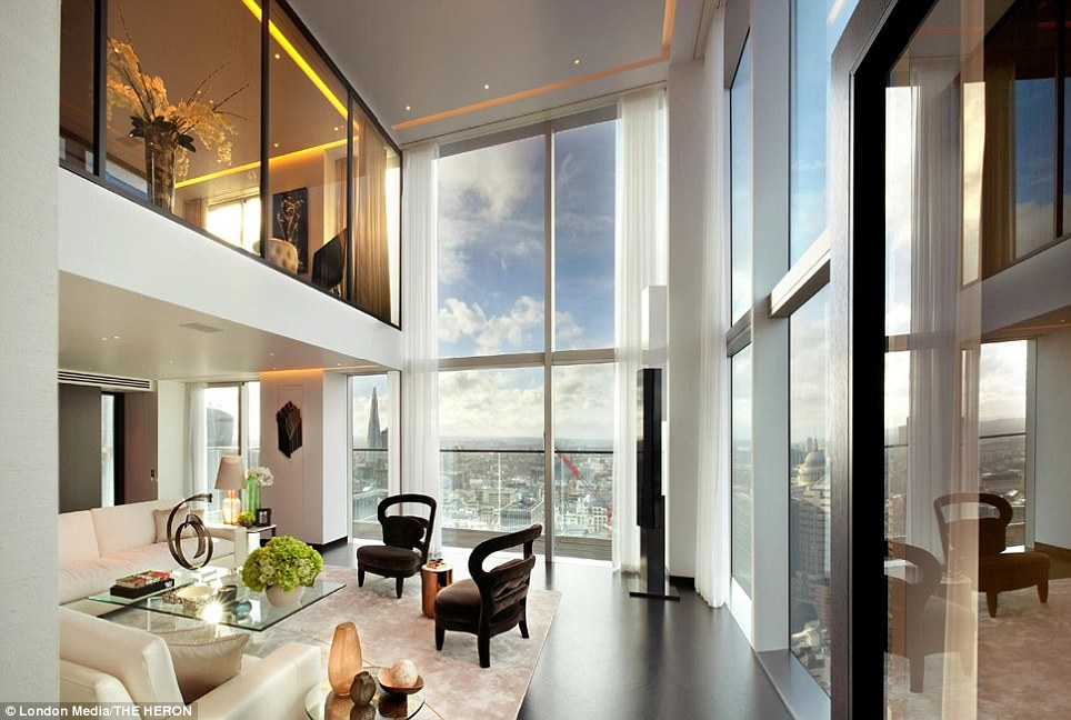 The Heron Tower S Resplendent Penthouse Duo Haute Residence