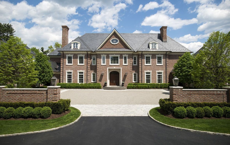 Georgian Colonial Mansion this $17.5 million manor in connecticut touts a cool chrome