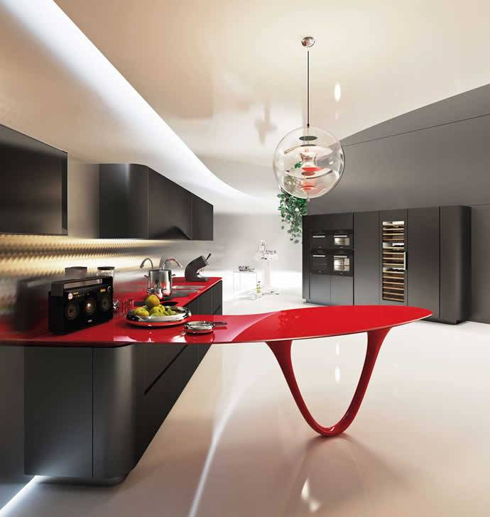 PININFARINA AND SNAIDERO OLA 25 FERRARI KITCHEN