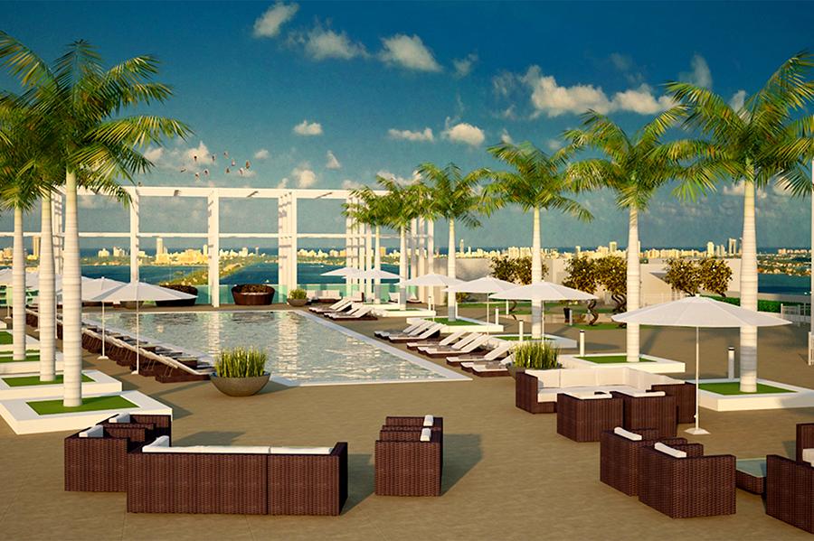 Midtown Miami Residences Pool Deck