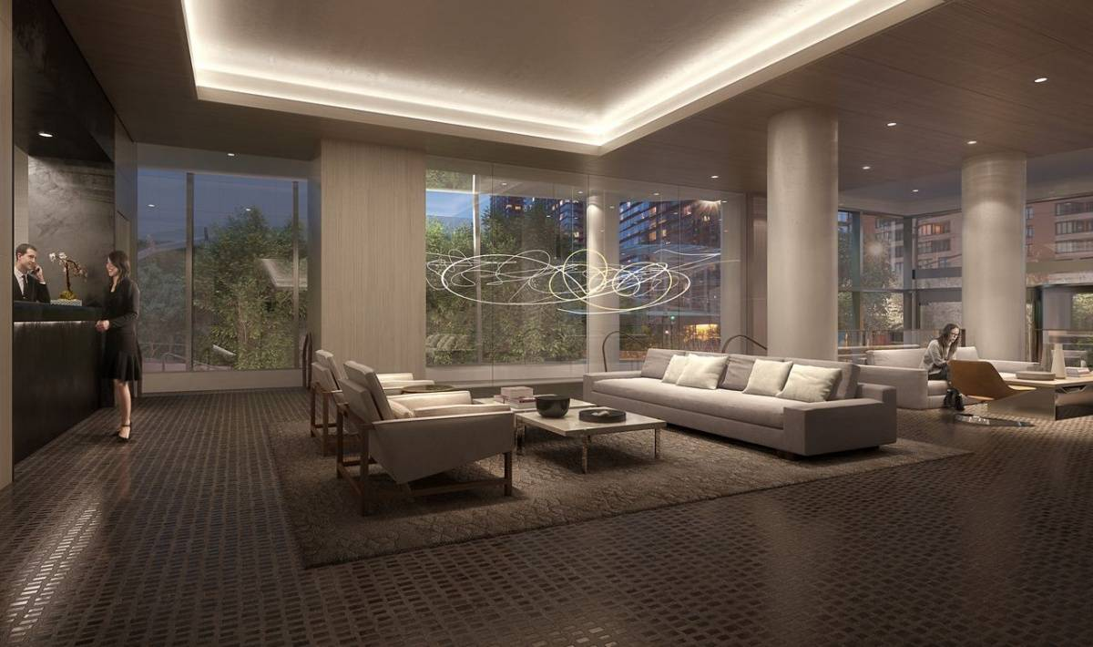 a glimpse at time equities inc u0027s glittering 50 west haute residence