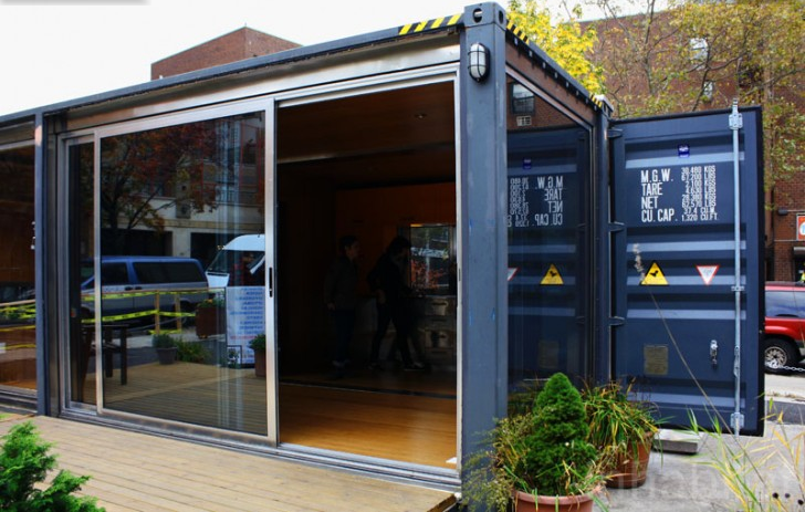 A cool look at 4 shockingly small abodes - Meka shipping container homes ...
