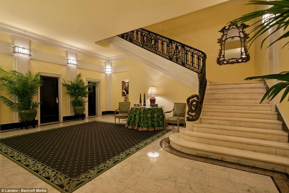 As condo board president, the comedian upgraded the building's gorgeous lobby.