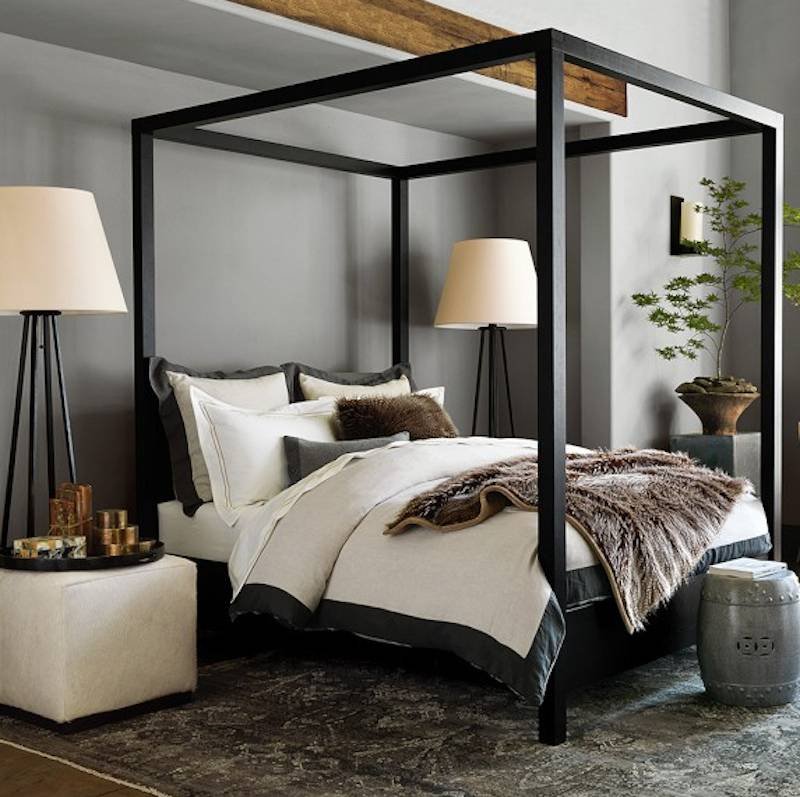 The dark rich finish on the solid oak frame highlights its marvelous architectural nature. Handcrafted in France this bed u2014 which is priced at $2395 ... & Sleep Like Royalty in One of These 5 Luxury Canopy Beds