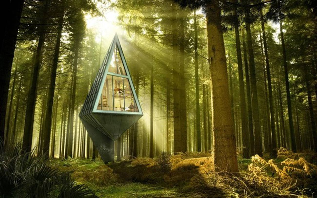 Konrad Wojcik's self-sustaining forest house