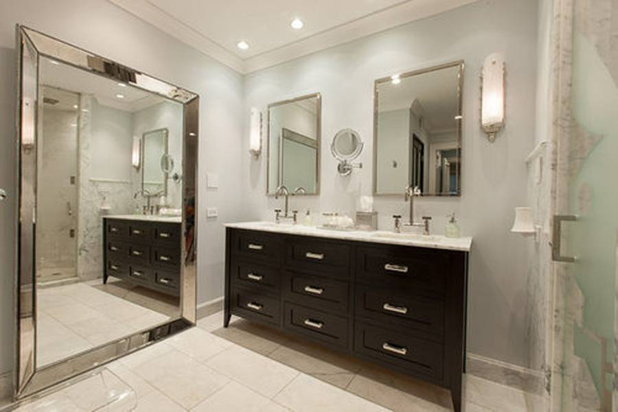 Playboy Mansion Bathroom. Luxe Condo in Original Playboy Mansion Hops onto the Market for