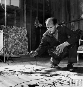 Jackson Pollock Working, Shot for Life Magazine, Photograph © Arnold Newman