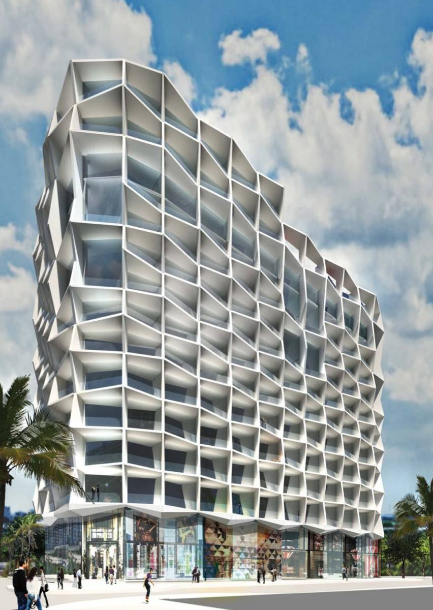 Jeanne gang puts brave fa ade on miami tower for Building design website