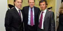 Edgardo Defortuna, Richard LeFrak, and Ugo Colombo