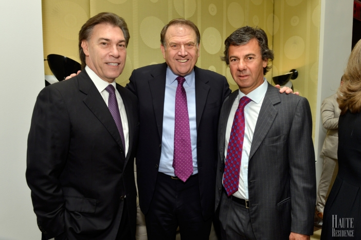 Edgardo Defortuna, Richard LeFrak, and Ugo Colombo