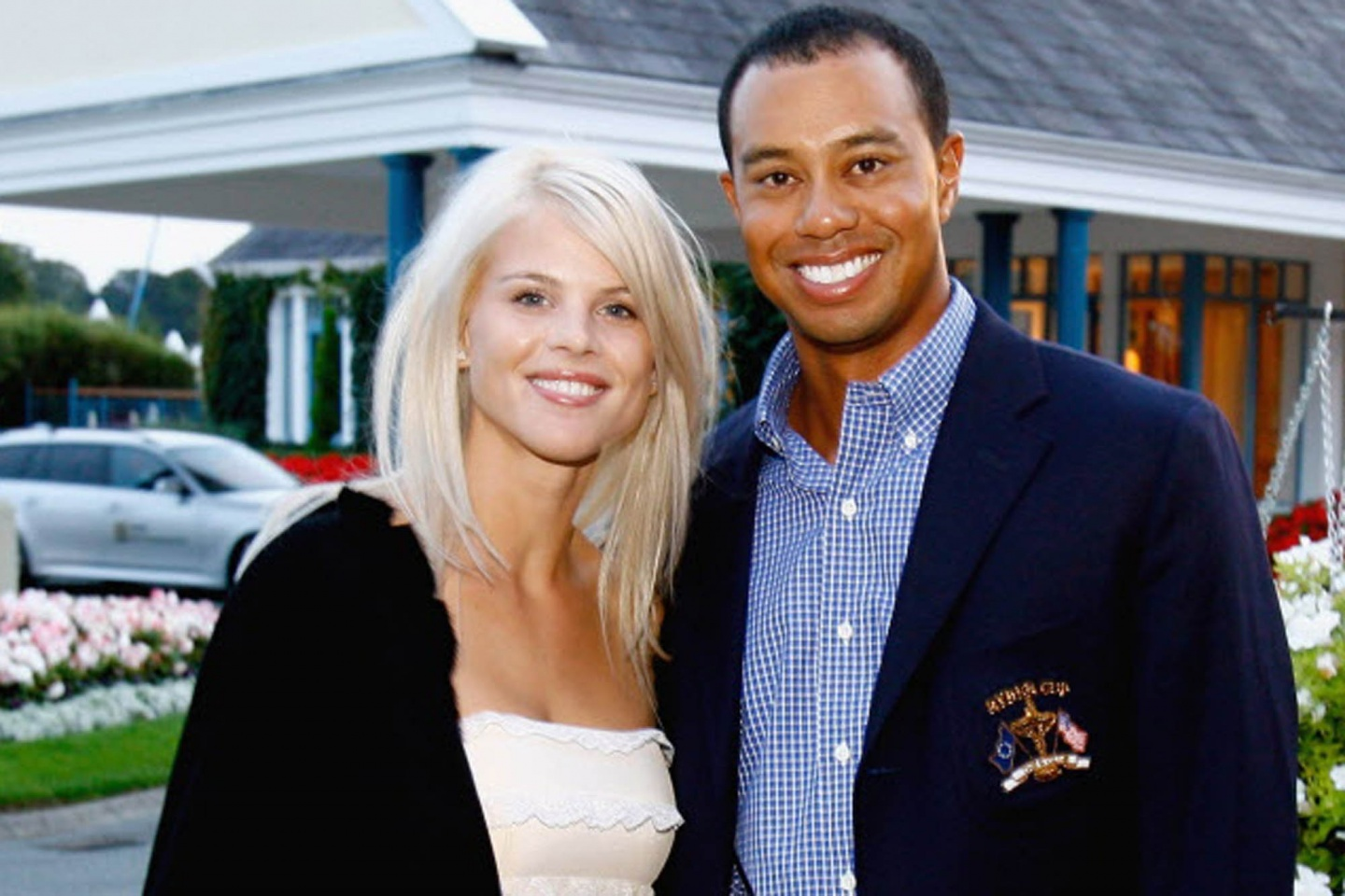 Elin Nordegren and ex husband Tiger Woods.