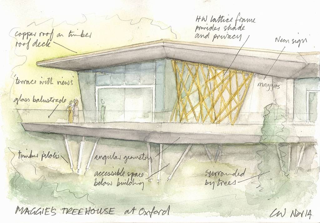 Maggie's Treehouse at Oxford by Chris Wilkinson. Image Courtesy of Maggie's Centres