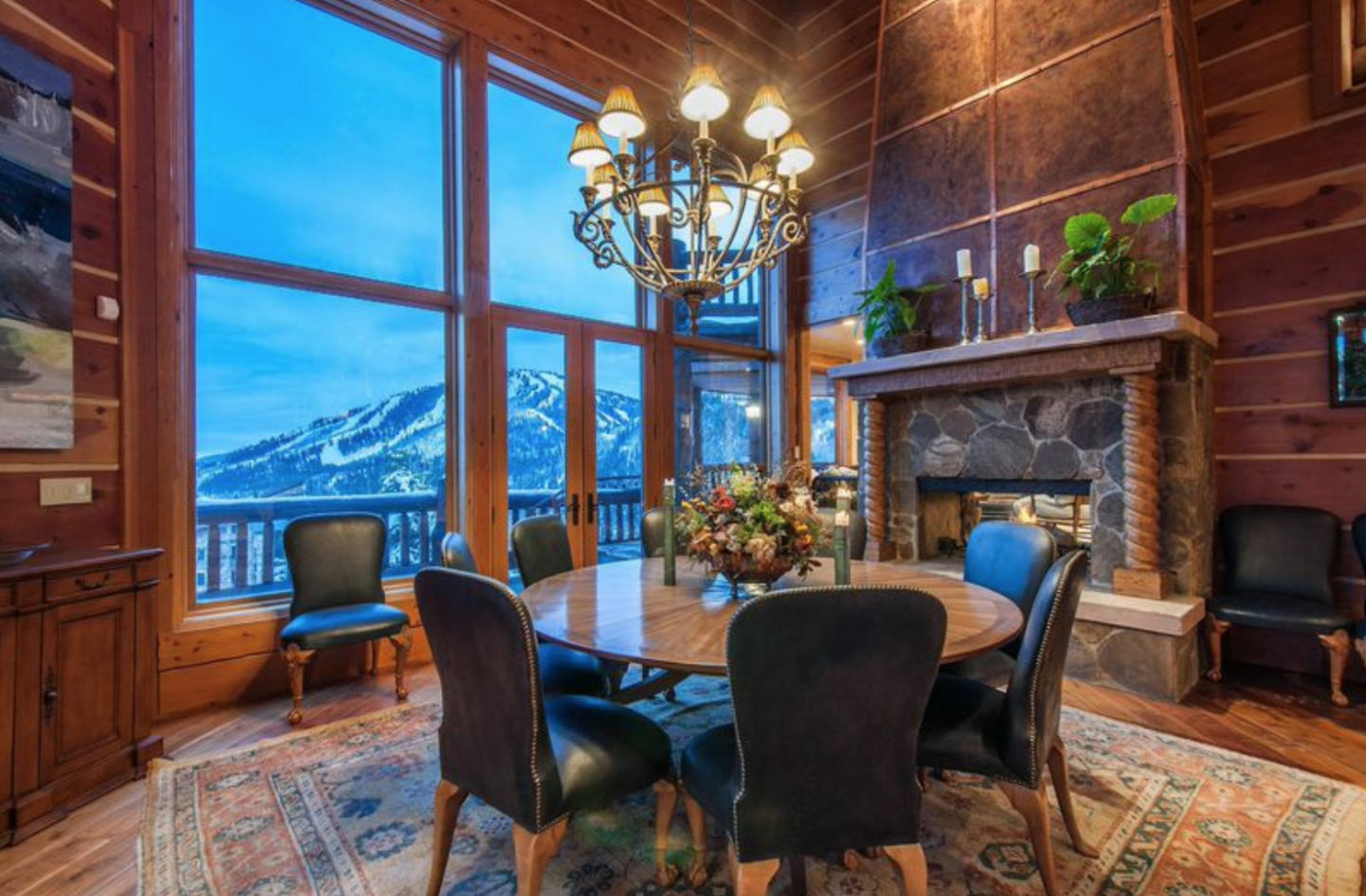 Dining area with great view