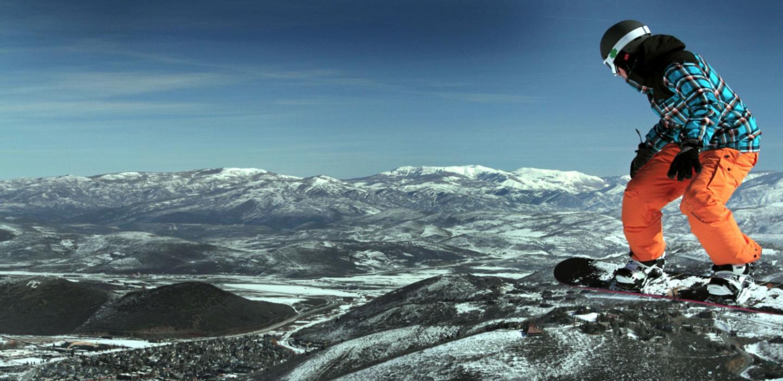 Snowboarding is big in Park City, Utah.