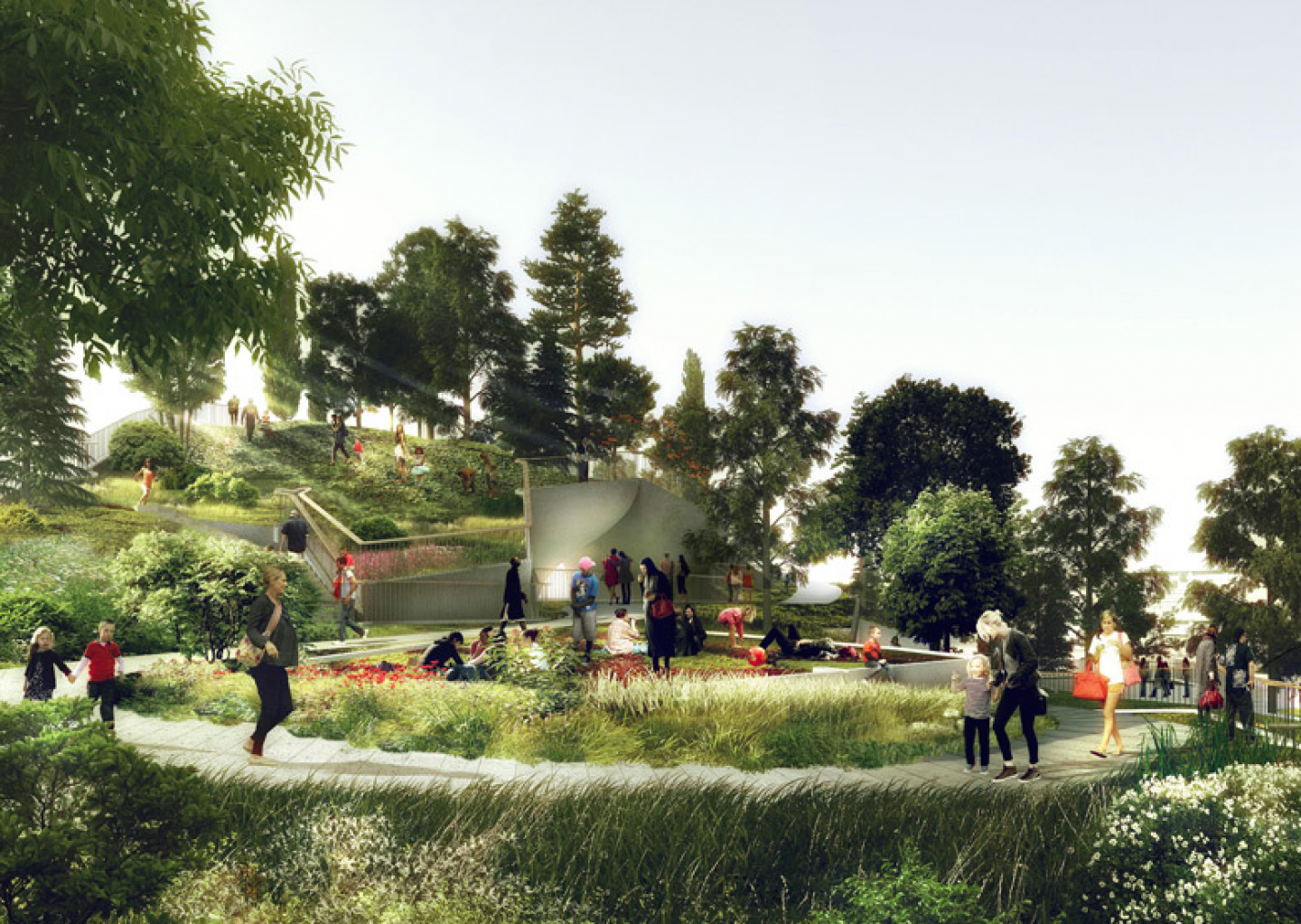 The oasis will showcase  and unexpected topography never before seen in New York City.