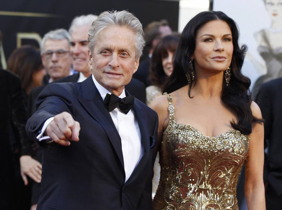 Douglas and Zeta-Jones have won a total of four Oscars.