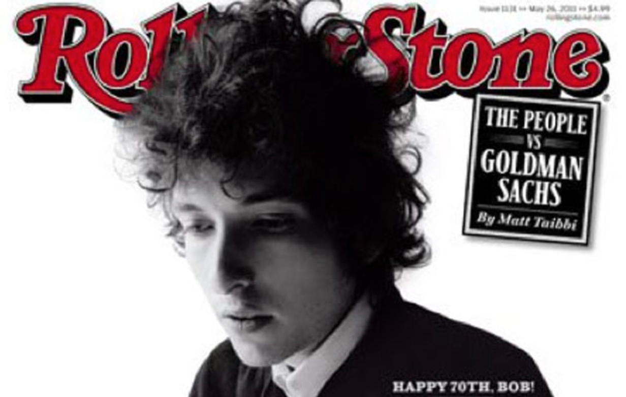 Bob Dylan on cover of Rolling Stone.