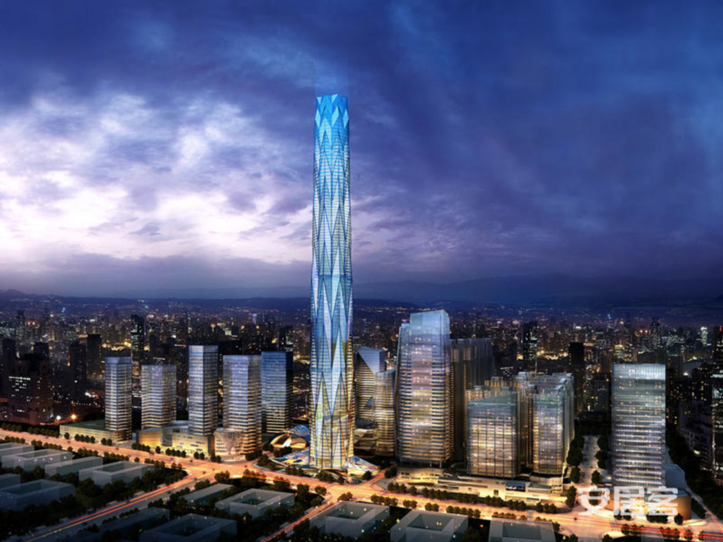 Greenland Tower Chengdu is located in the center of the booming Dongcun district.