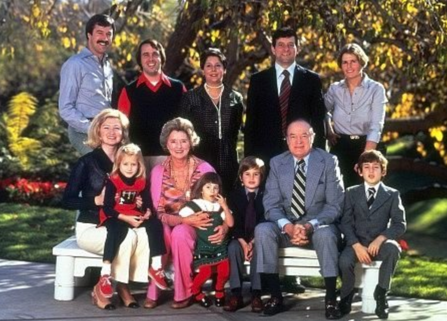 Bob and Dolores Hope with family in 1978.