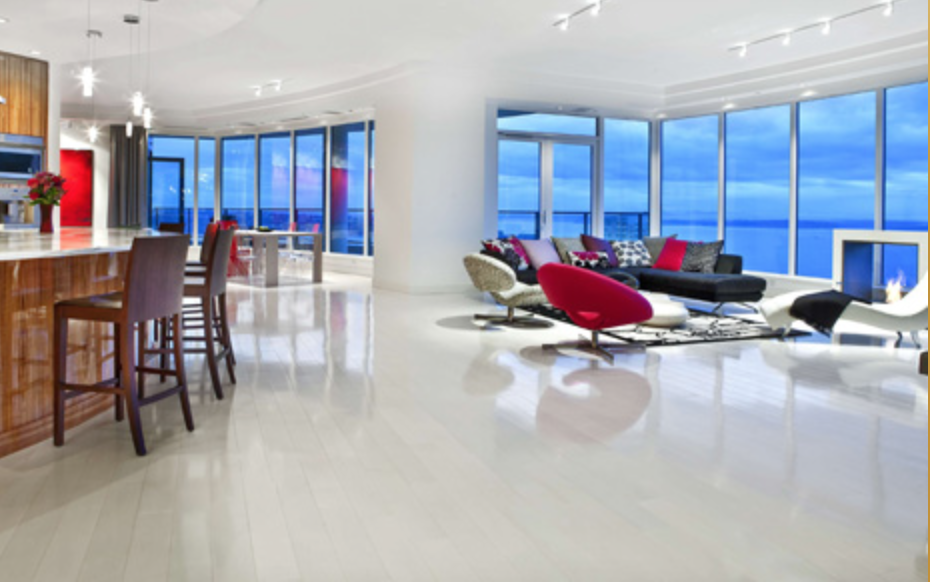 The penthouse is 5,100-square feet.