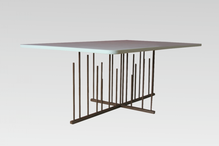 Steel Base Coffee Table
