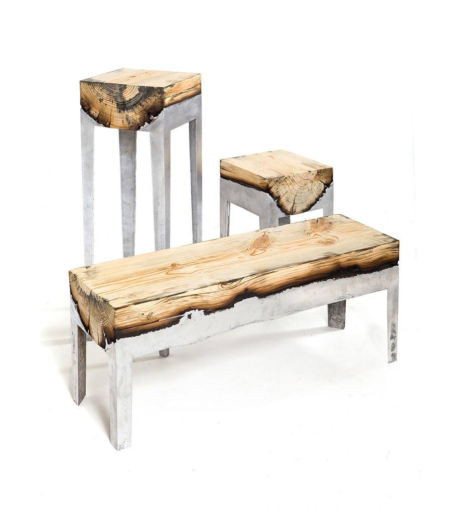 Hilla Shamia Molten Metal Wood Furniture