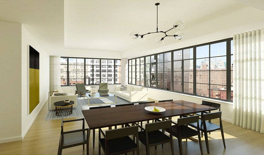 Word is Anthony's full-floor condo will boast a total of 4,556 square feet.