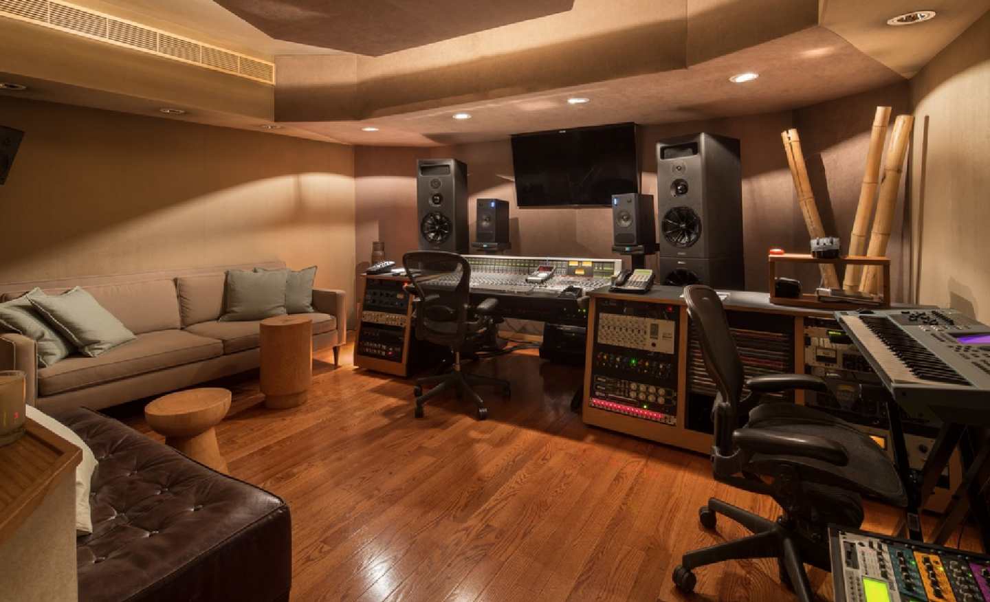 Mixing room, adjacent to the recording studio
