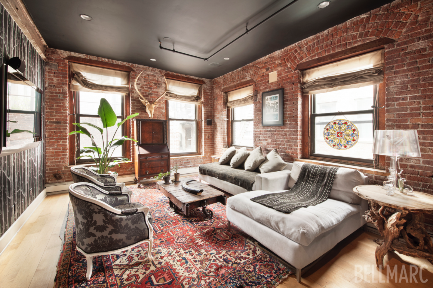 The full-floor loft at 182 Lafayette Street occupies a private boutique building in  the heart of SoHo.