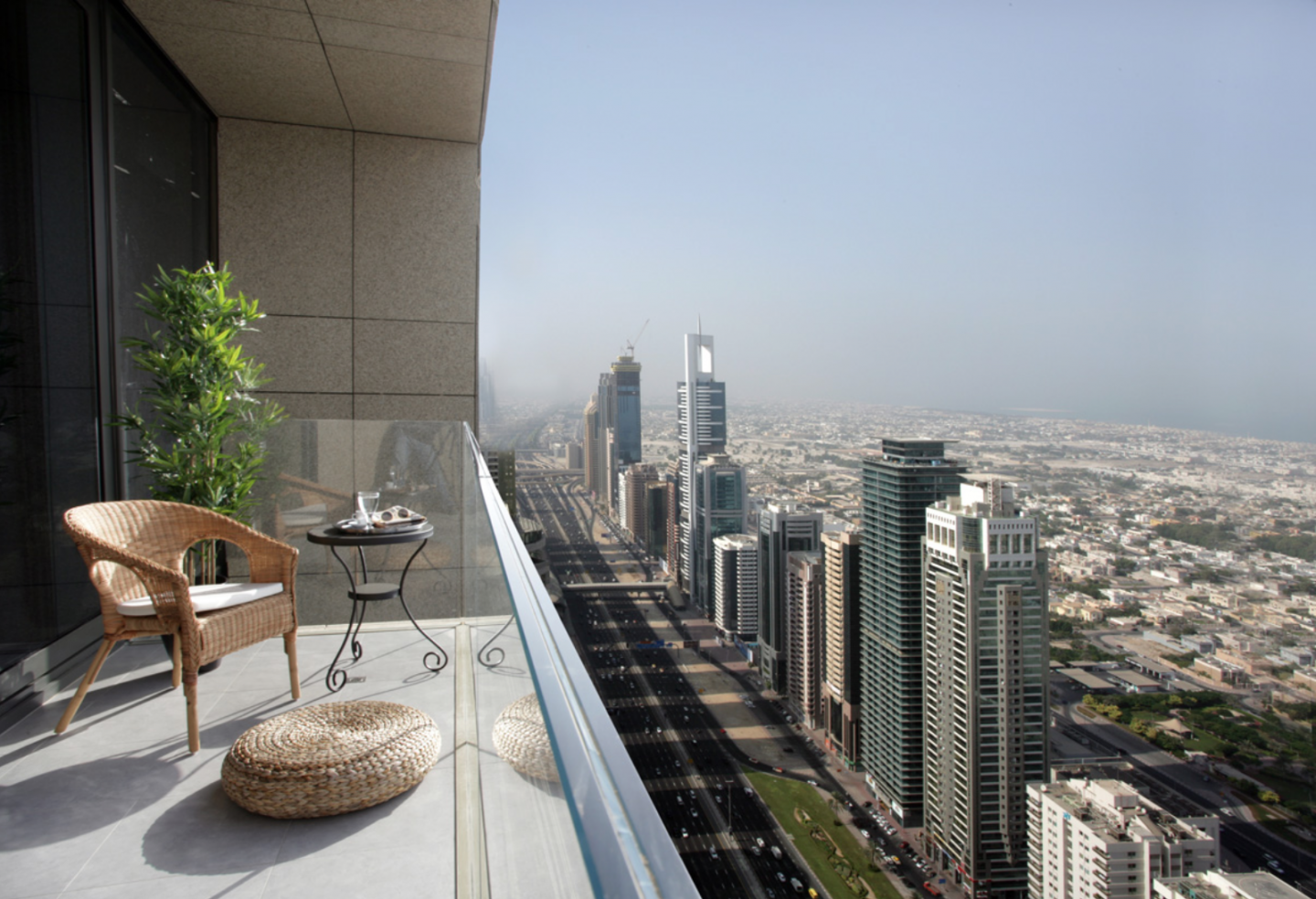 The Maze Tower is located on Sheikh Zayed Road in the heart of Dubai's Financial District.