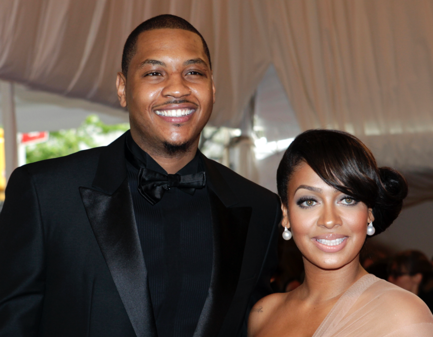 Stylish couple, Carmelo and La La Anthony