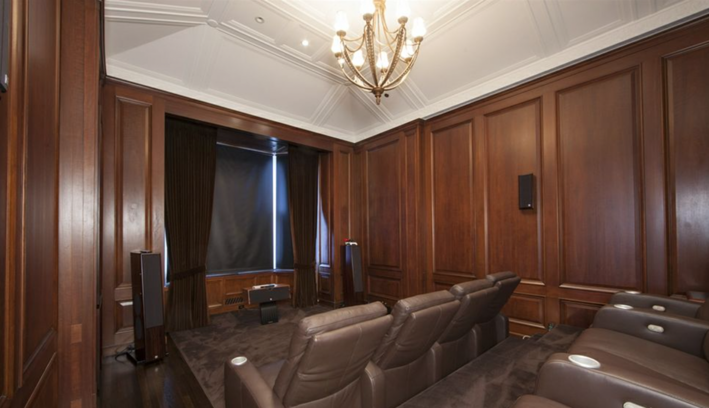 Media screening room