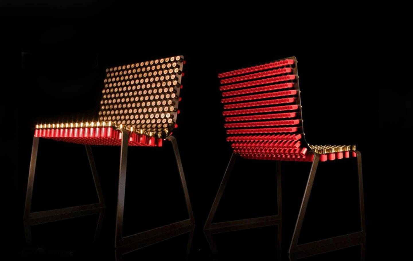 These 6 Oddball Chairs Add Intrigue to Any Dining Room Table : shotgun shell chair from www.hauteresidence.com size 1440 x 911 jpeg 66kB