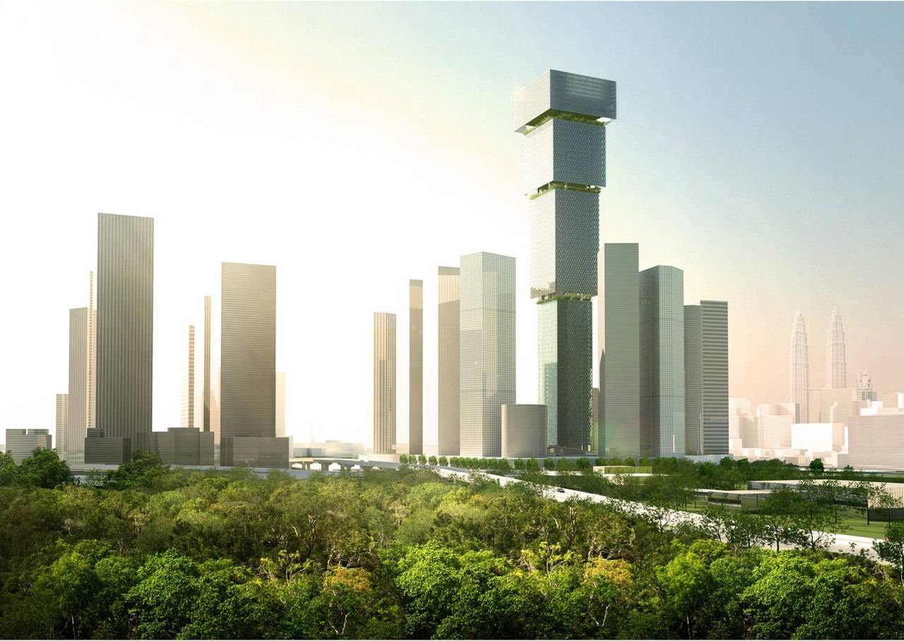 BIG Kuala Lumpur Inverted Skyscraper