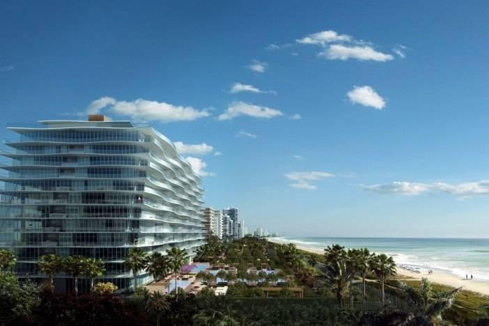 Fendi Chateau rendering building beach view long