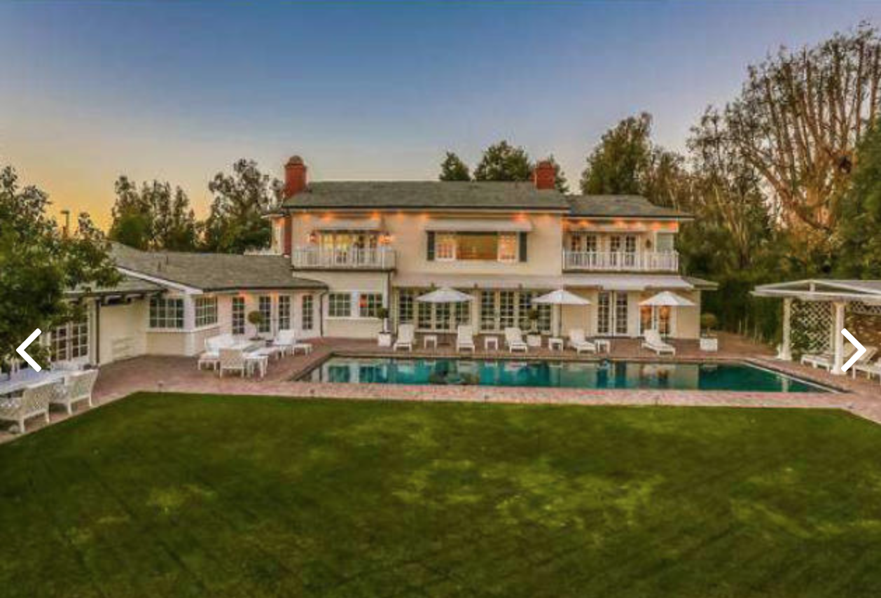 The 11,750-square-foot home includes a pool, outdoor pavilion and a spacious backyard.