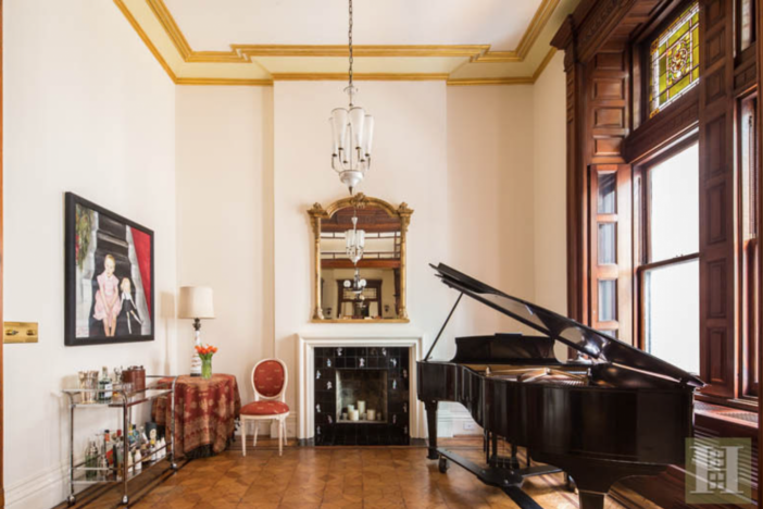 Chastain's condo has an impressive musical pedigree--with a grand piano, Carnegie Hall as a neighbor and two former Tony-Award-winning composers as former residents of the home.